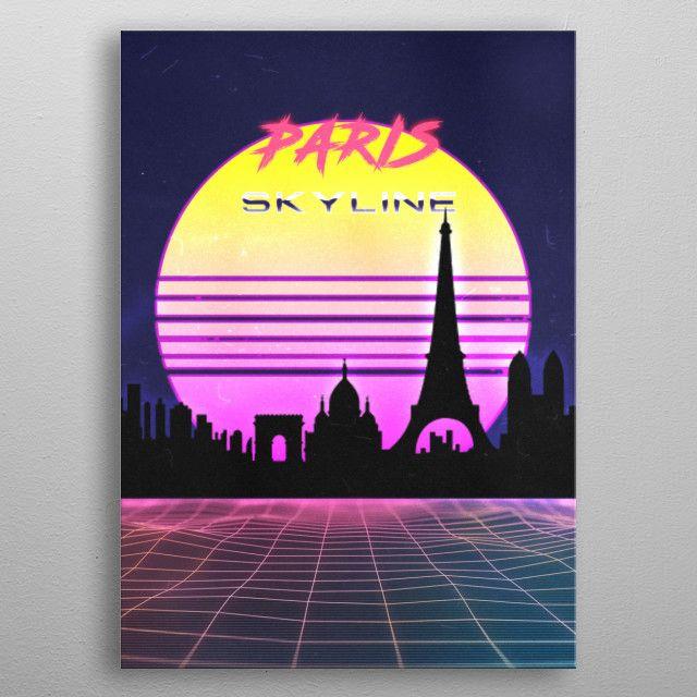 PARIS by FARKI15 DESIGN | metal posters - Displate | Displate thumbnail