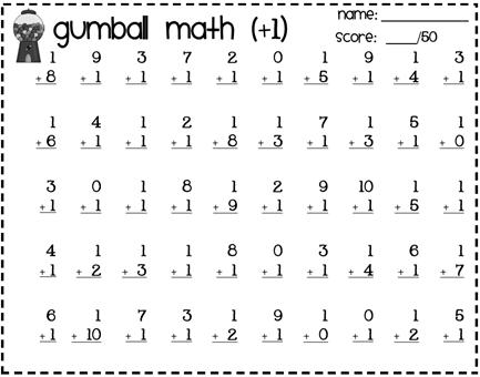 Made For 1st Grade Math First Grade Worksheets Second Grade Math Math Timed Tests