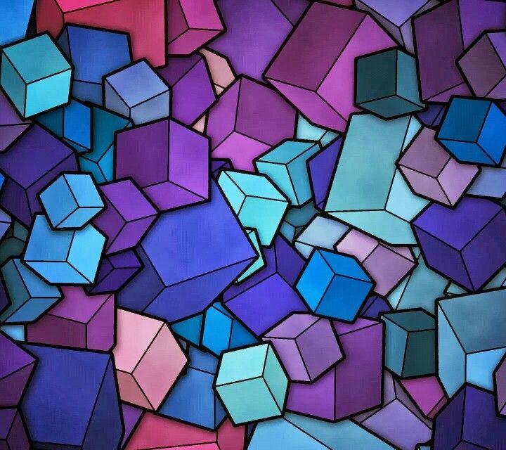 Purple Blue Pink Teal Blocks