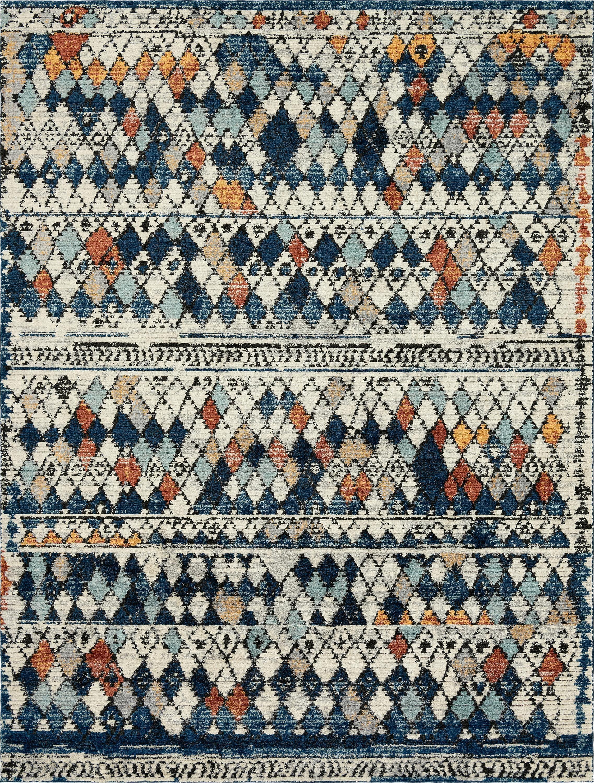 9 X 12 Morocco Rug Blue Terra Cotta Tan Greige Esalerugs Com Navy Blue Rug Navy Blue Decor Navy Blue Curtains