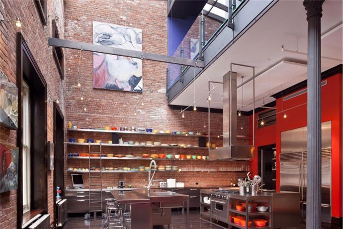 Luxury Loft Apartment Kitchen In Tribeca, New York City; Fantastic Setup  With All Of