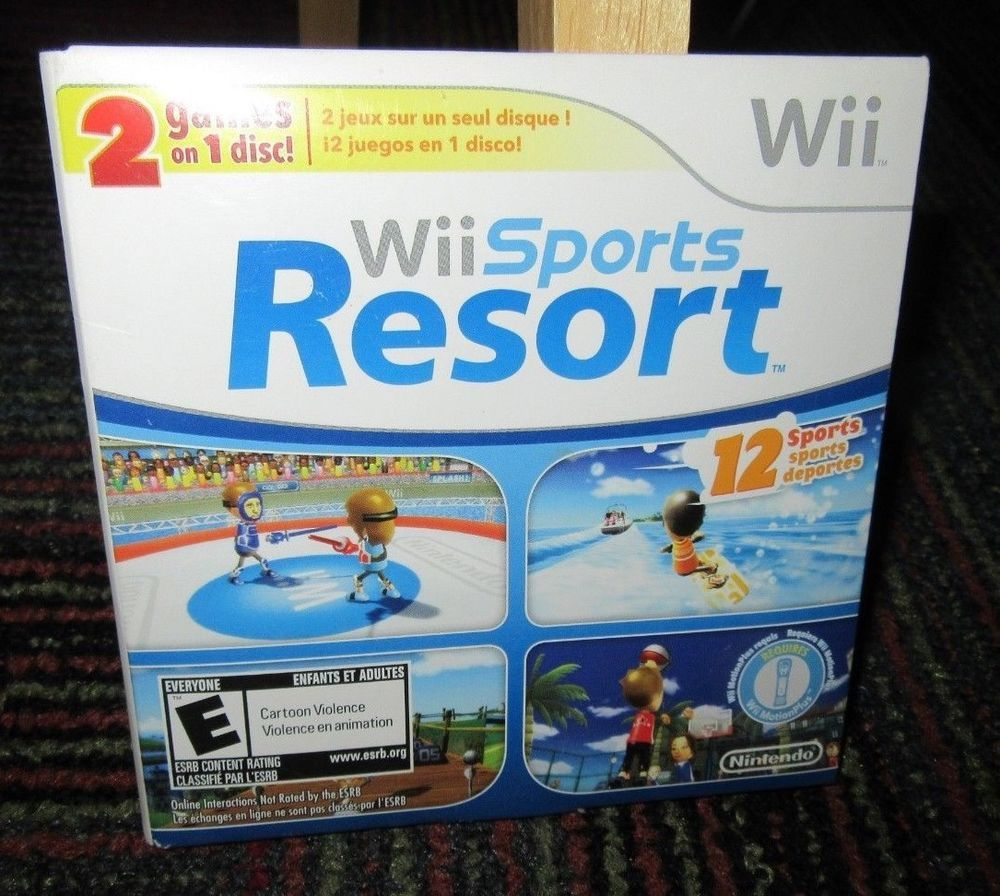 Wii SPORTS / Wii SPORTS RESORT GAME FOR NINTENDO Wii, 2