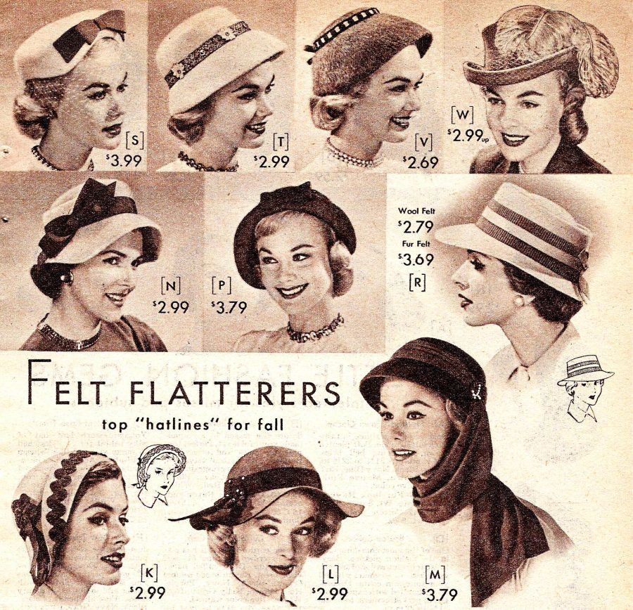 1950s Womens Hats By Style Hats Vintage 1950s Hats Vintage Hats 1920s