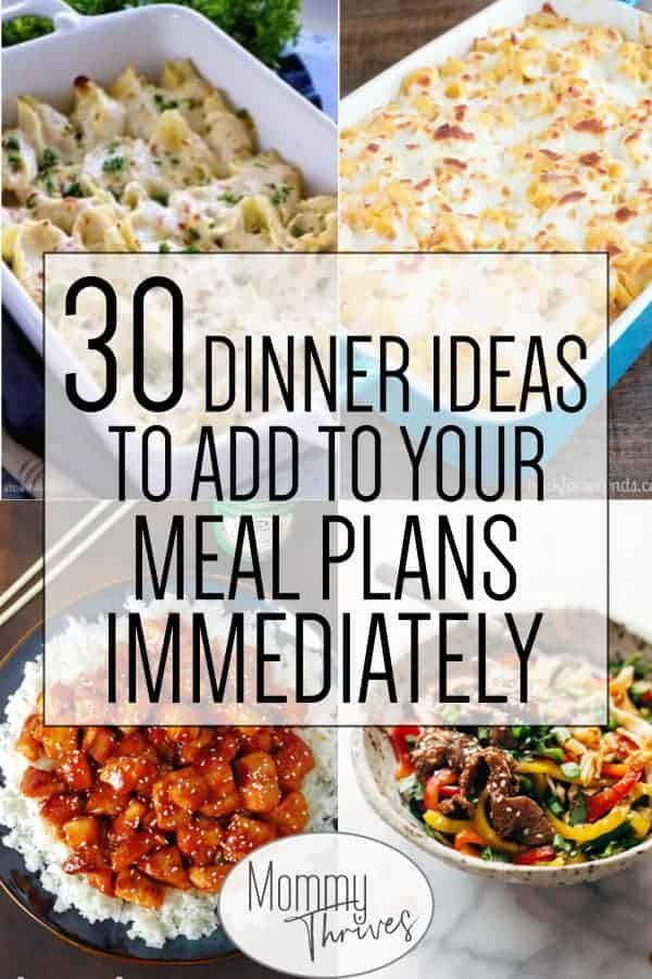 Quick and Easy Dinner Ideas for a Month #healthyweeknightmeals