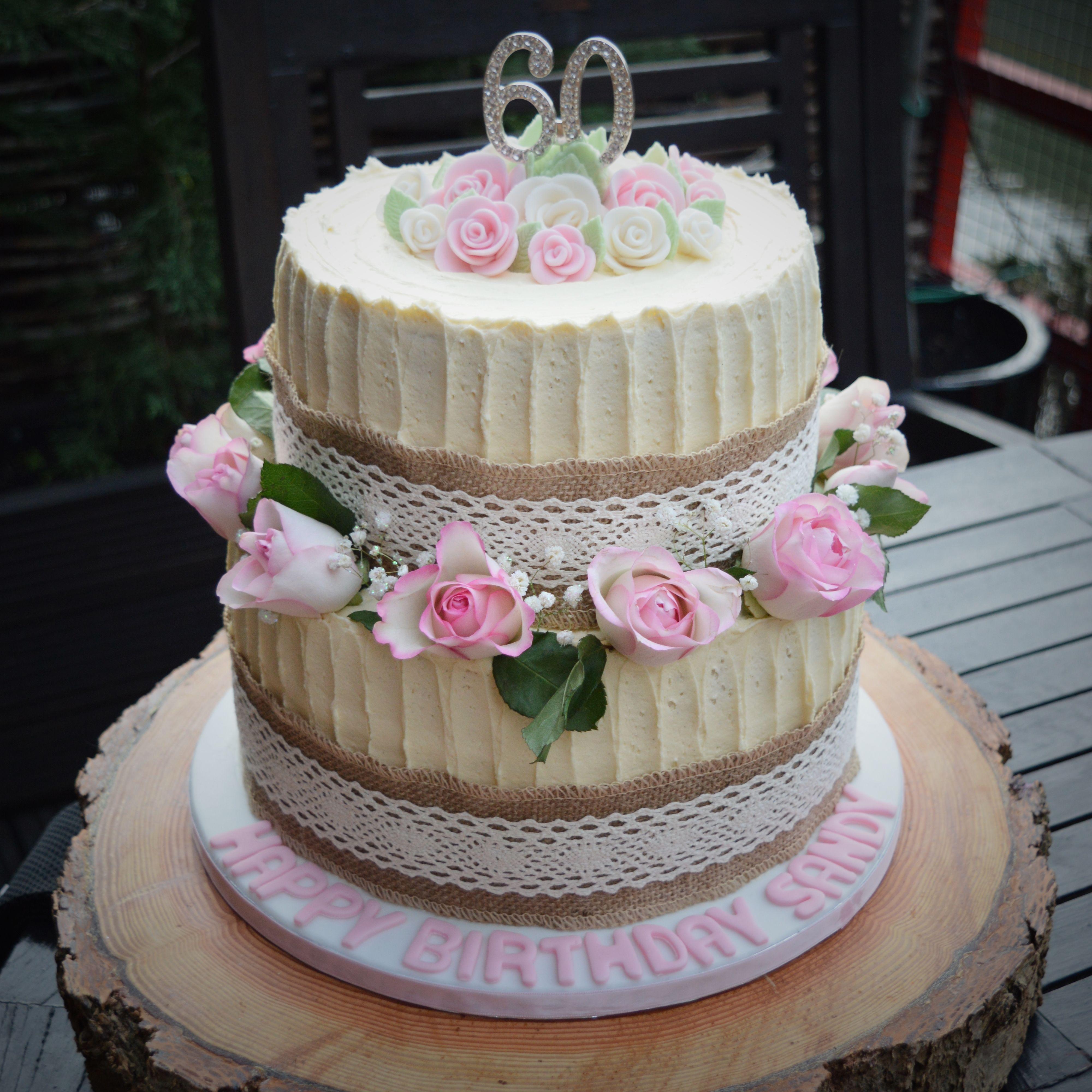 60th Birthday Celebration Cake