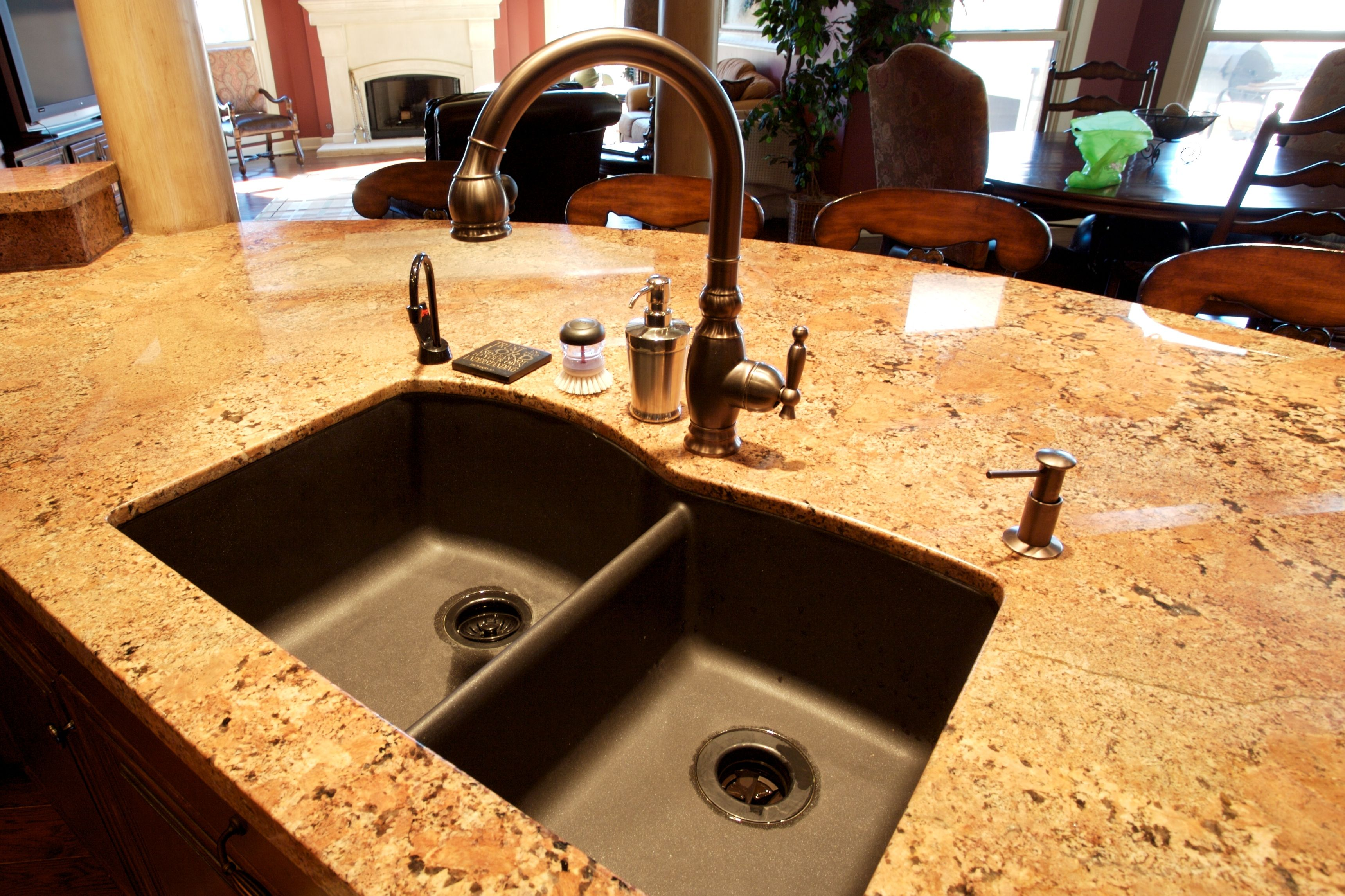 composite countertops kitchen high end faucets granite undermount sink pinterest