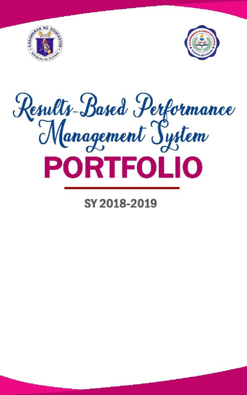 Rpms Portfolio Cover Teacher Portfolio Portfolio Covers Teaching Portfolio