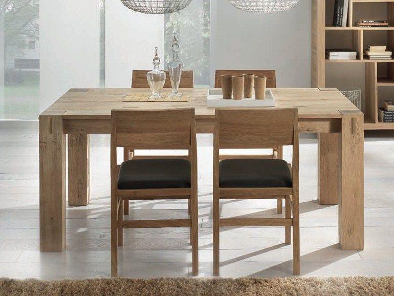 Tavolo allungabile rettangolare in legno massello STORIA