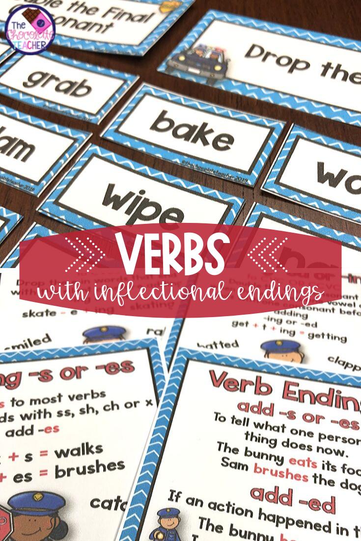 Verbs With Inflectional Endings Activities Games And Worksheets Inflectional Endings Word Sorts Teaching Verbs [ 1102 x 735 Pixel ]