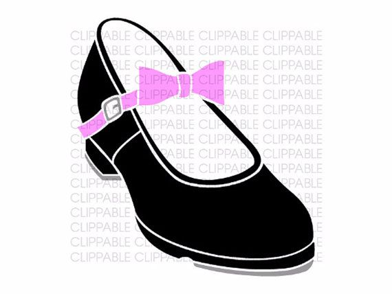 Well-known Girls Tap Shoe Clip Art - Digital Graphics - Instant Download  QC49