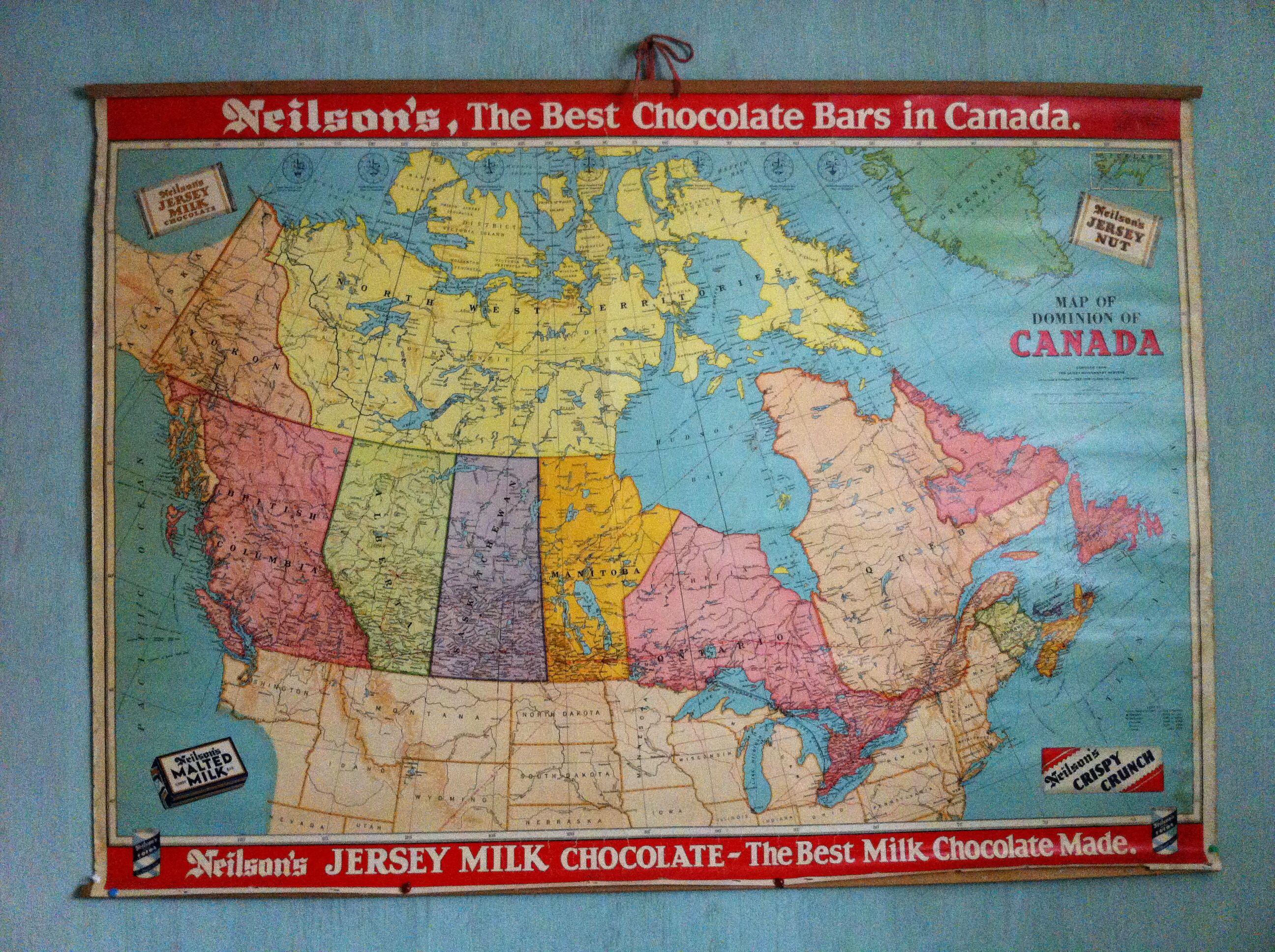 Old school map of Canada Old school