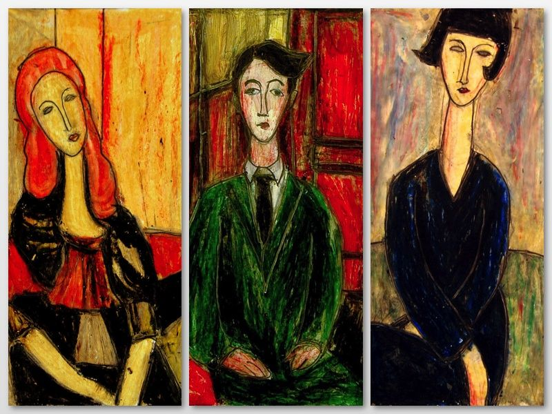 Modigliani style with oil pastels and baby oil   Art Class   Pinterest