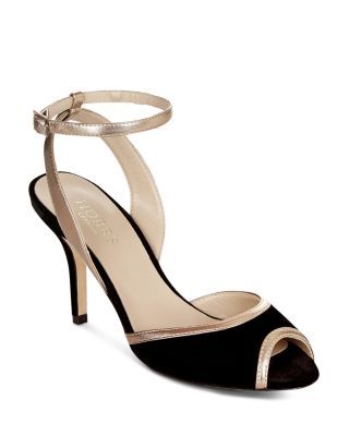 387d0467e494 HOBBS LONDON WOMEN S VITA VELVET   LEATHER ANKLE STRAP SANDALS.   hobbslondon  shoes