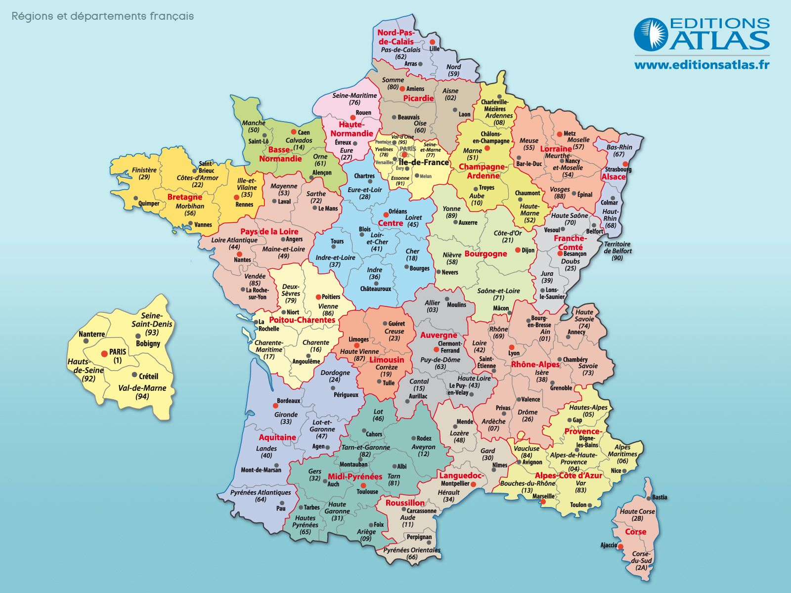 Carte Atlas De France | popkensburg