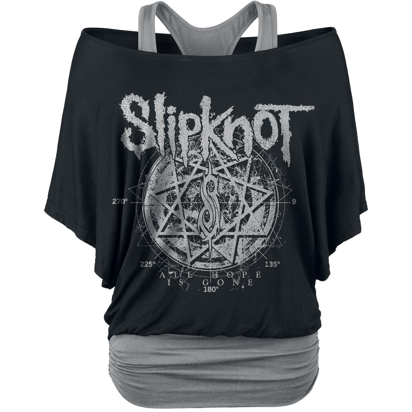 Slipknot t shirt women star symbol black grey emp tops slipknot star symbol girls shirt black grey s slipknot biocorpaavc Choice Image