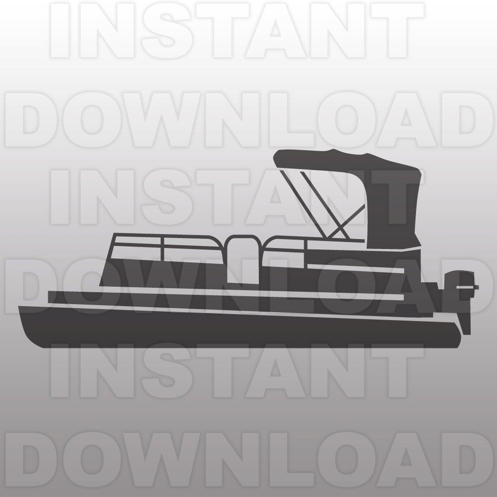 Pontoon Boat SVG FileLake Life SVG FileBoat SVG FileVector Art - Decals for pontoon boats