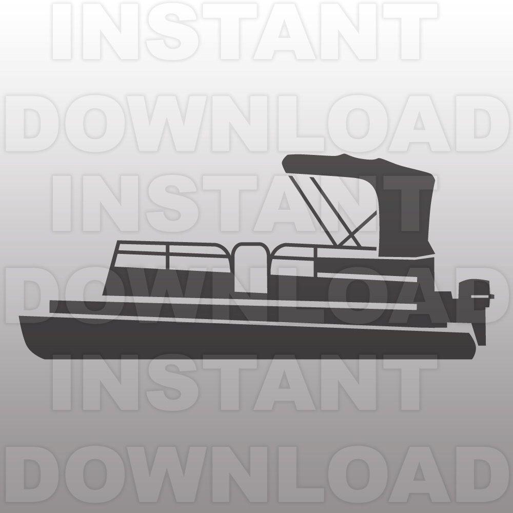 Pontoon Boat SVG FileLake Life SVG FileBoat SVG FileVector Art - Decals for pontoon boats