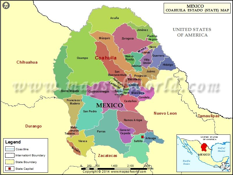 Find The List Of Municipios In Coahuila State Of Mexico Along With The Code And Muncipal Seat Coahuila Map Amazing Maps