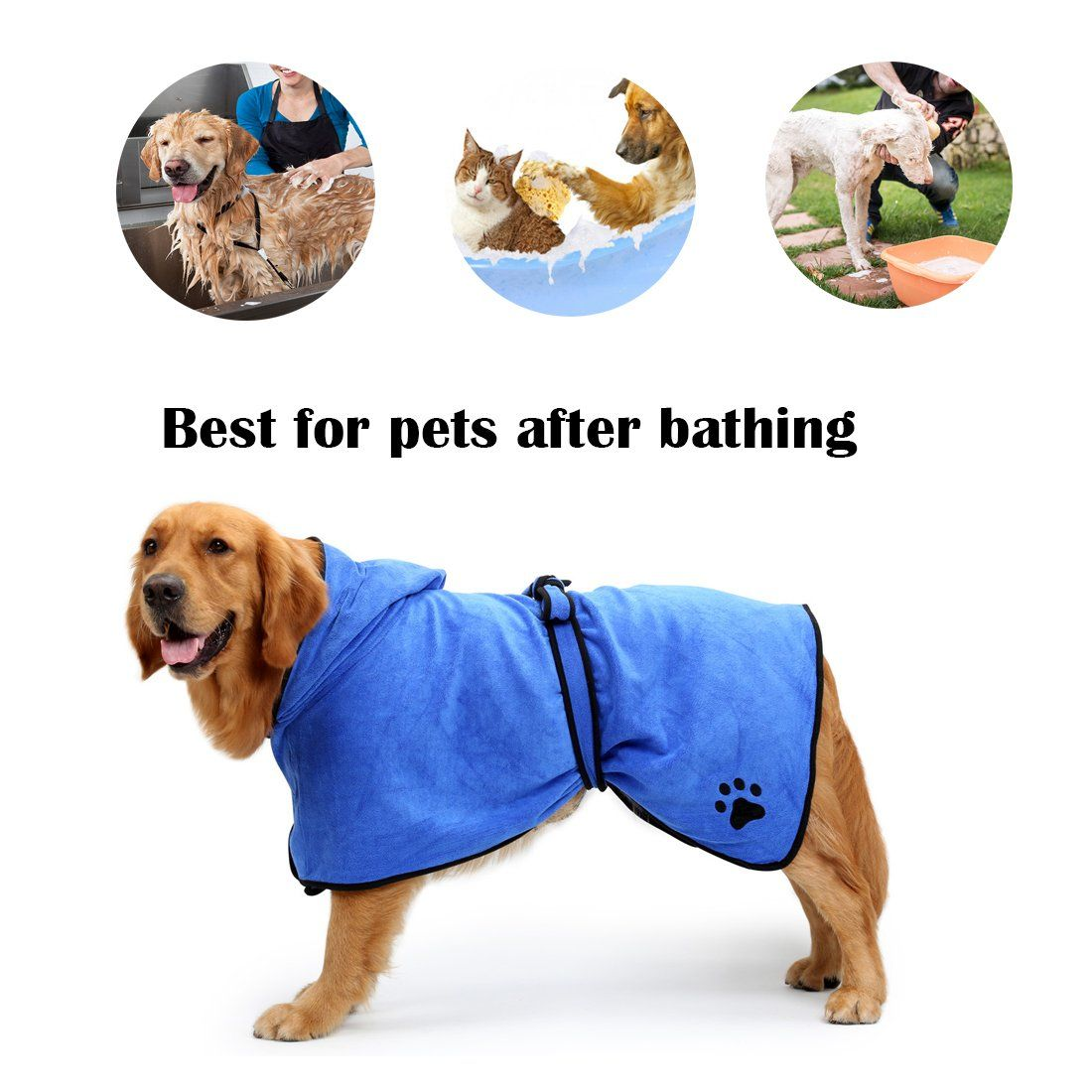 Yongyitong Pet Grooming Bathing Towel Washable Drying Fast