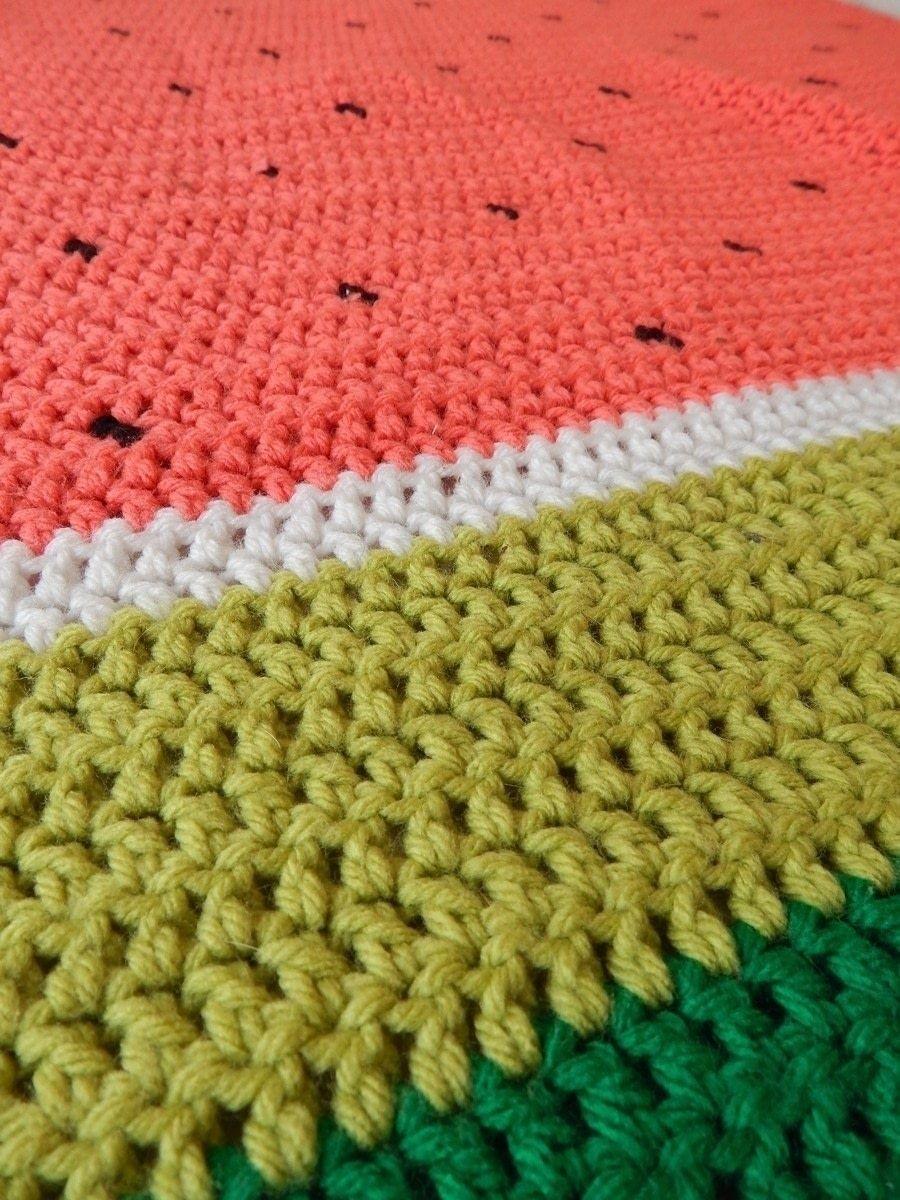 Watermelon Crochet Blanket   Crochet   Pinterest   Manta