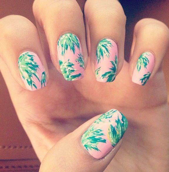 Florida Nails Flamingo Nails Palm Nails Perfect Nails