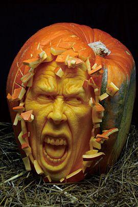 30 Realistic Pumpkin Faces For Helloween The Design Inspiration Pumpkin Carving Amazing Pumpkin Carving Awesome Pumpkin Carvings