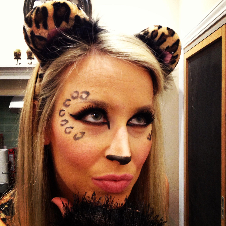 Easy Halloween costume! Cheetah makeup! | halloween | Pinterest ...
