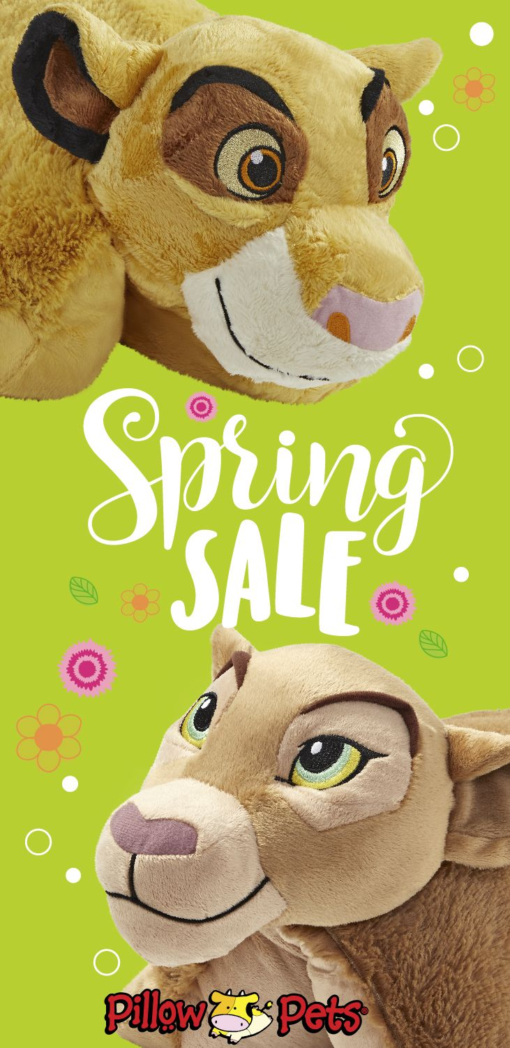 Spring Sale on Pillow Pets! It's not one of those regular pillows, it's a Pillow Pet! Rediscover the magic of Pillow Pets and give your little ones the gift of a snuggly buddy like Simba or Nala! Super soft, parent approved, fun and functional, Pillow Pets bring endless smiles to children everywhere. Their sweetest daytime friend becomes their comfiest nighttime pillow. High quality plush designed to last through childhood and beyond. #pillowpets #spring #sale #simba #nala #lionking #greatdeals
