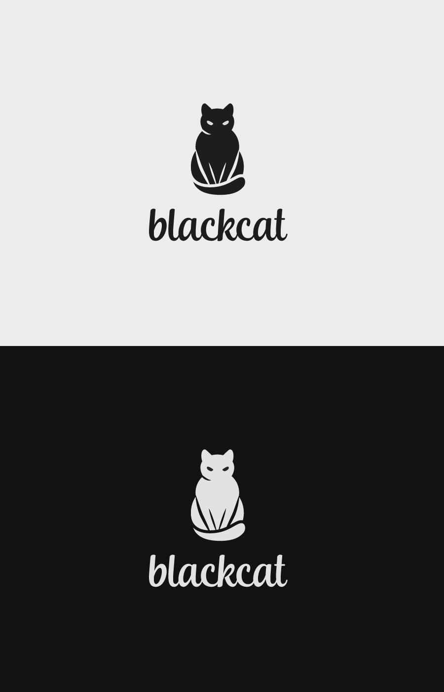 Black Cat Premade Logo Ooak Exclusive Etsy Cat Logo Design Cat Logo Premade Logo