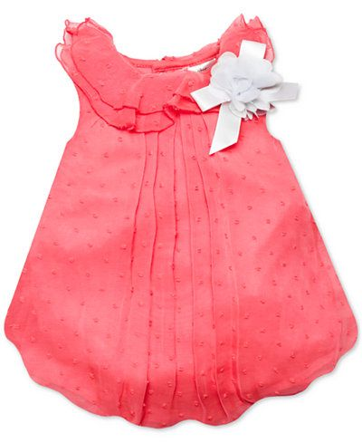 a465cb3a5 Baby Essentials Baby Girls' Coral Swiss Dot Bubble Romper | Isn't ...
