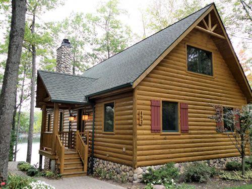 Half Log Siding Log Siding Exterior Design Knotty Pine Paneling