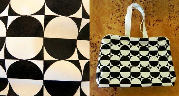 mod makeup bag made by irma shorell  60s retro by SansEpochVintage