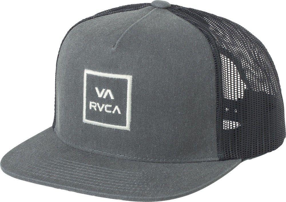 Rvca Va All The Way Printed Trucker Hat - Washed Blue Ea 4570f78d9218