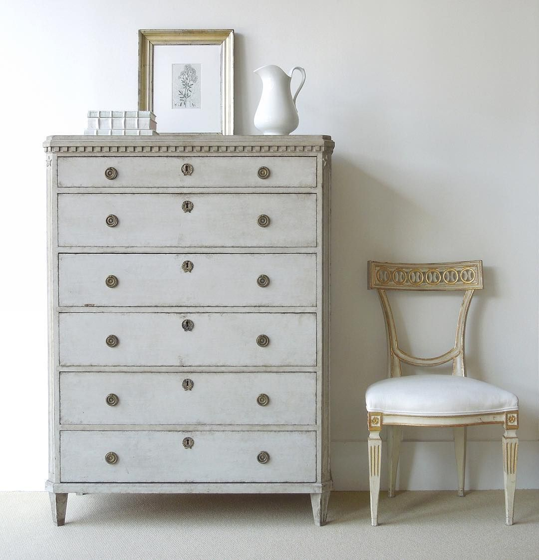 Hereu0027s A Swedish Gustavian Gray Painted Tall Chest With Six Drawers, One  For Each Day Of The Week. Oops Missing One Drawer   Ok, Letu0027s Skip Monday  Wouldnu0027t ... Pictures