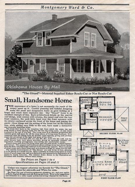 Wardway 1923 Pg46 Vintage House Plans House Plans Vintage House
