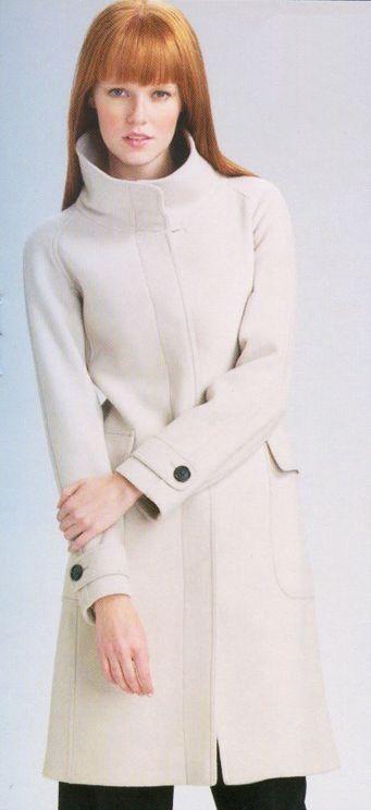 Mantel mit Stehkragen | Wintermantel damen, Mantel und