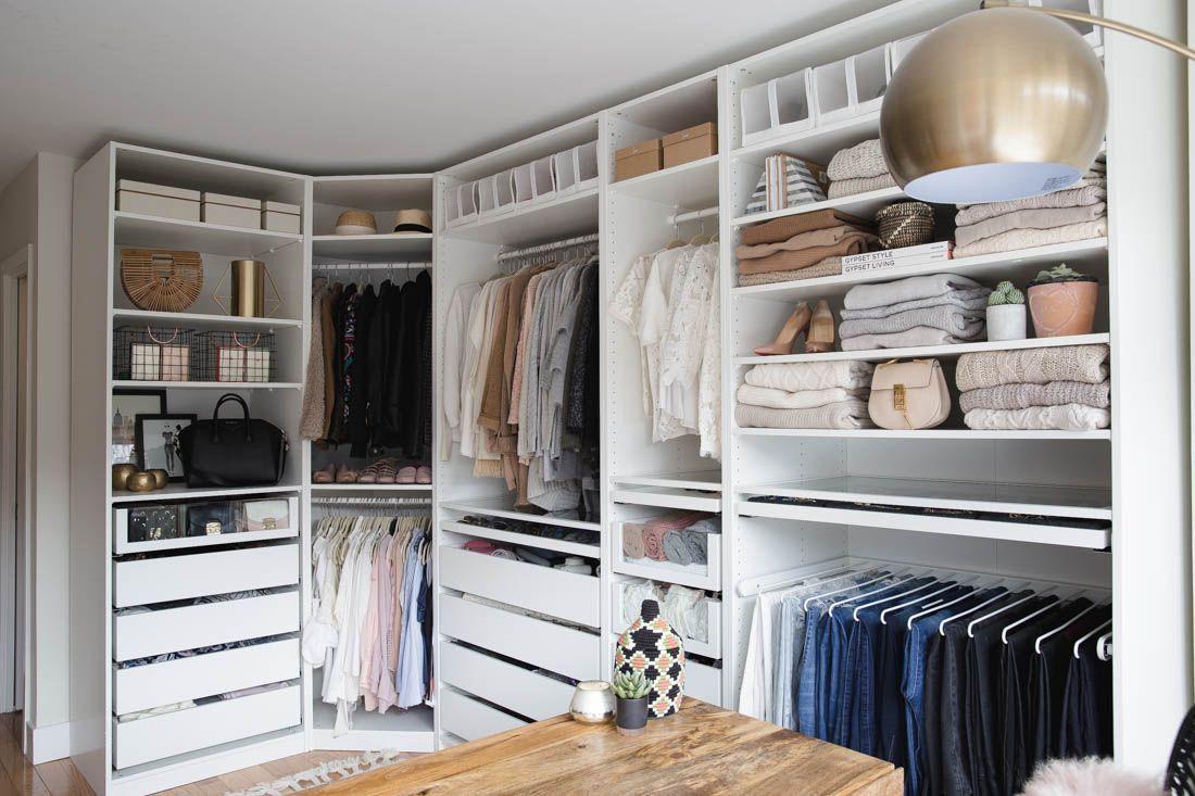 My Closet Office Reveal Styledsnapshots Ikea Wardrobe Closet