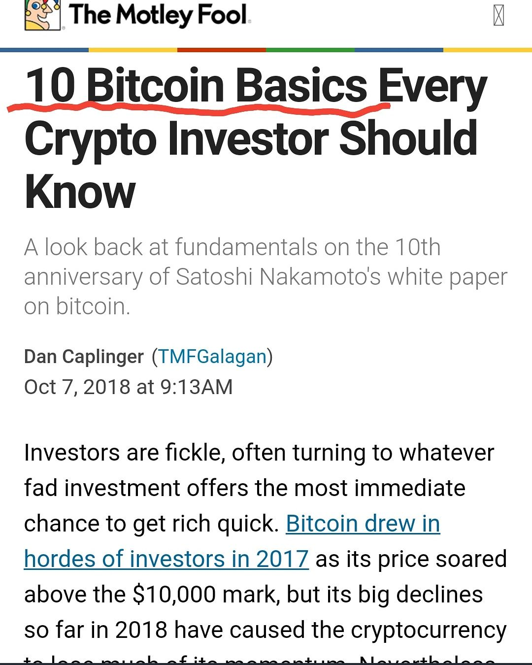 cryptocurrency motley fool