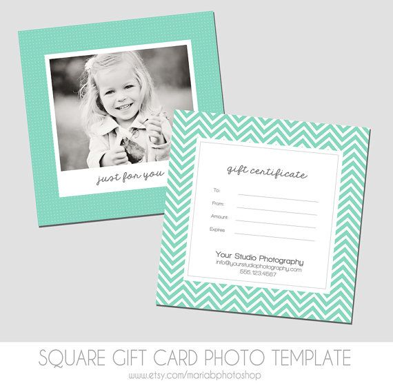 square gift certificate template 5x5 by mariabphotoshop on etsy 700