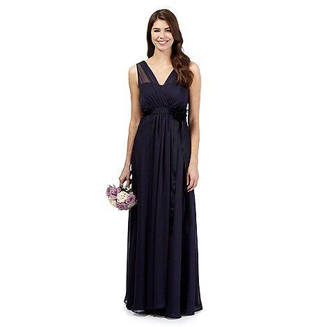 Debut Navy corsage detail maxi evening dress- | Debenhams | Art I ...