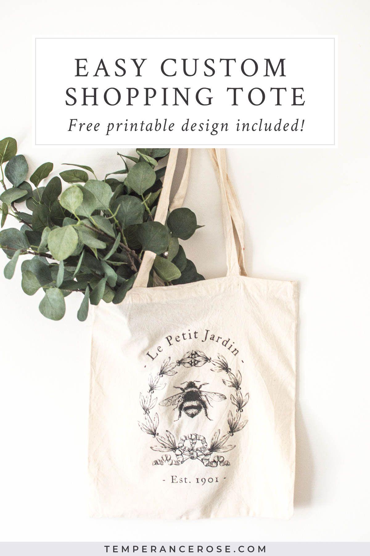 Simple Vintage Style Custom Calico Bag Free Printable Free Bag Bags Unique Tote Bag