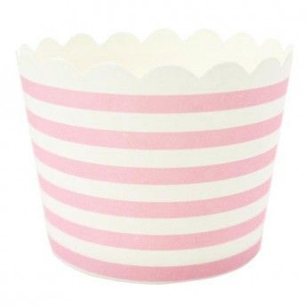 Pink+Stripe+Cupcake/Muffin+Cases+(set+of+25)