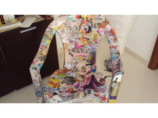 Sedie Decoupage ~ Sedia di plastica realizzata con tecnica decoupage pubblica anche
