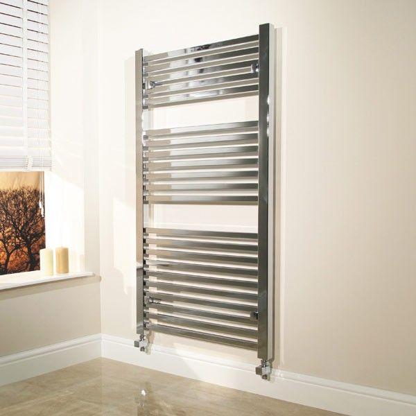 600 X 1200 Beta Heat Square Chrome Heated Towel Rail Stainless Steel Bathroom Radiators