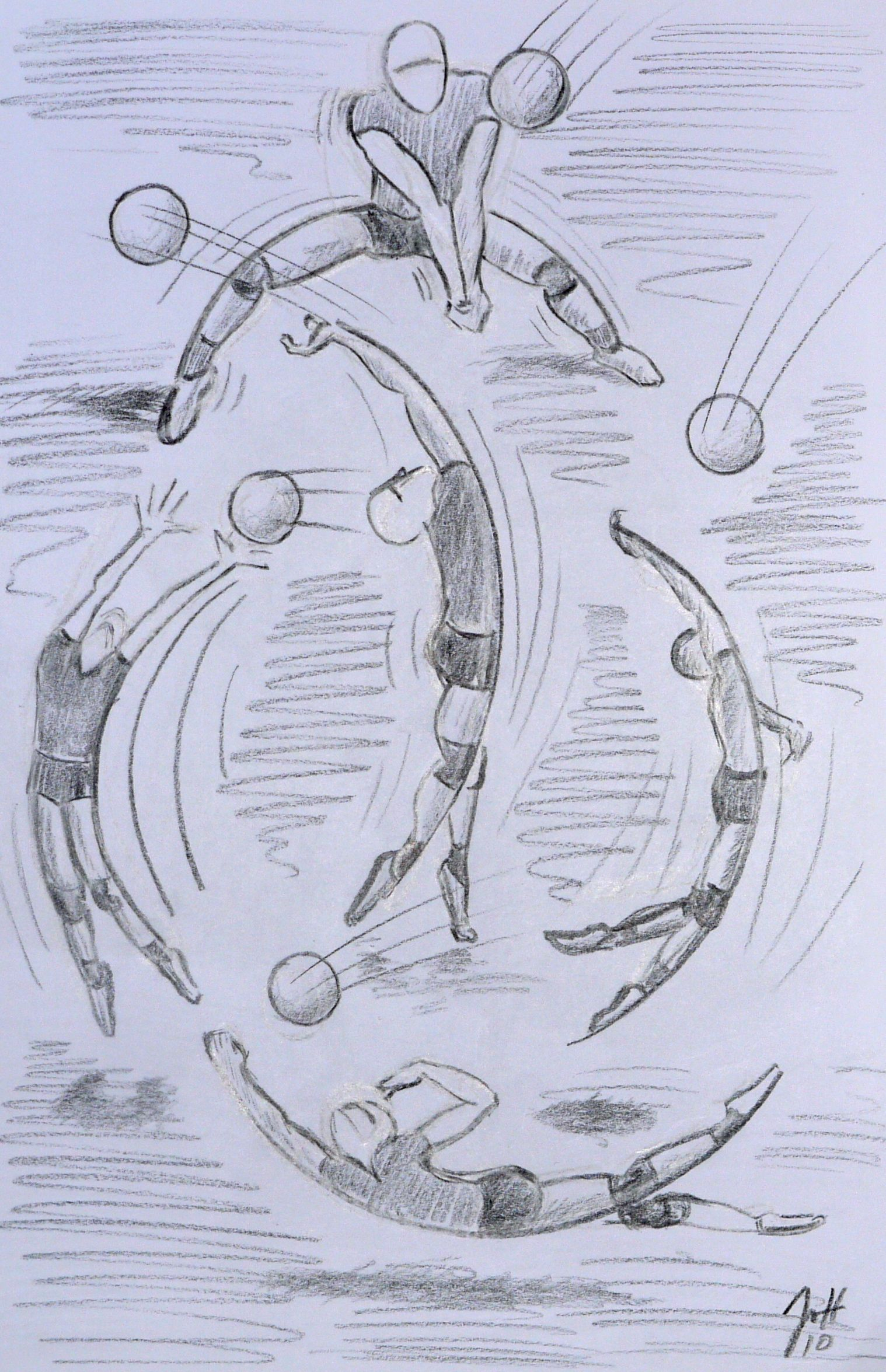 Volleyball Moves All Based On Part Of A Circle Volleyball Drawing Art Sketches Drawings