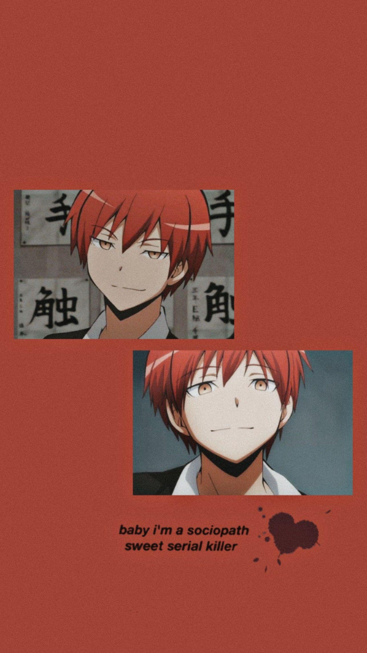 Karma Akabane Lockscreen In 2021 Anime Wallpaper Anime Wallpaper Phone Haikyuu Anime