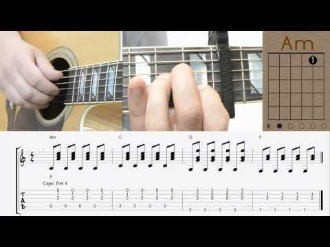 ▷ One Republic - Counting Stars / Tutorial / Guitat Lesson / Chords ...