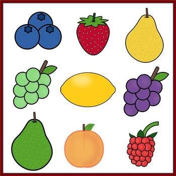 Fruit Clip Art for Commercial Use (PDF and PNG) Clip art