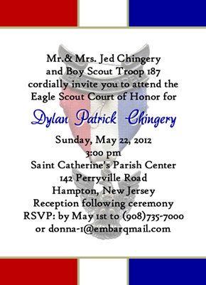 Invite Sample Eagle Scout Boy Scouts Eagle Scout