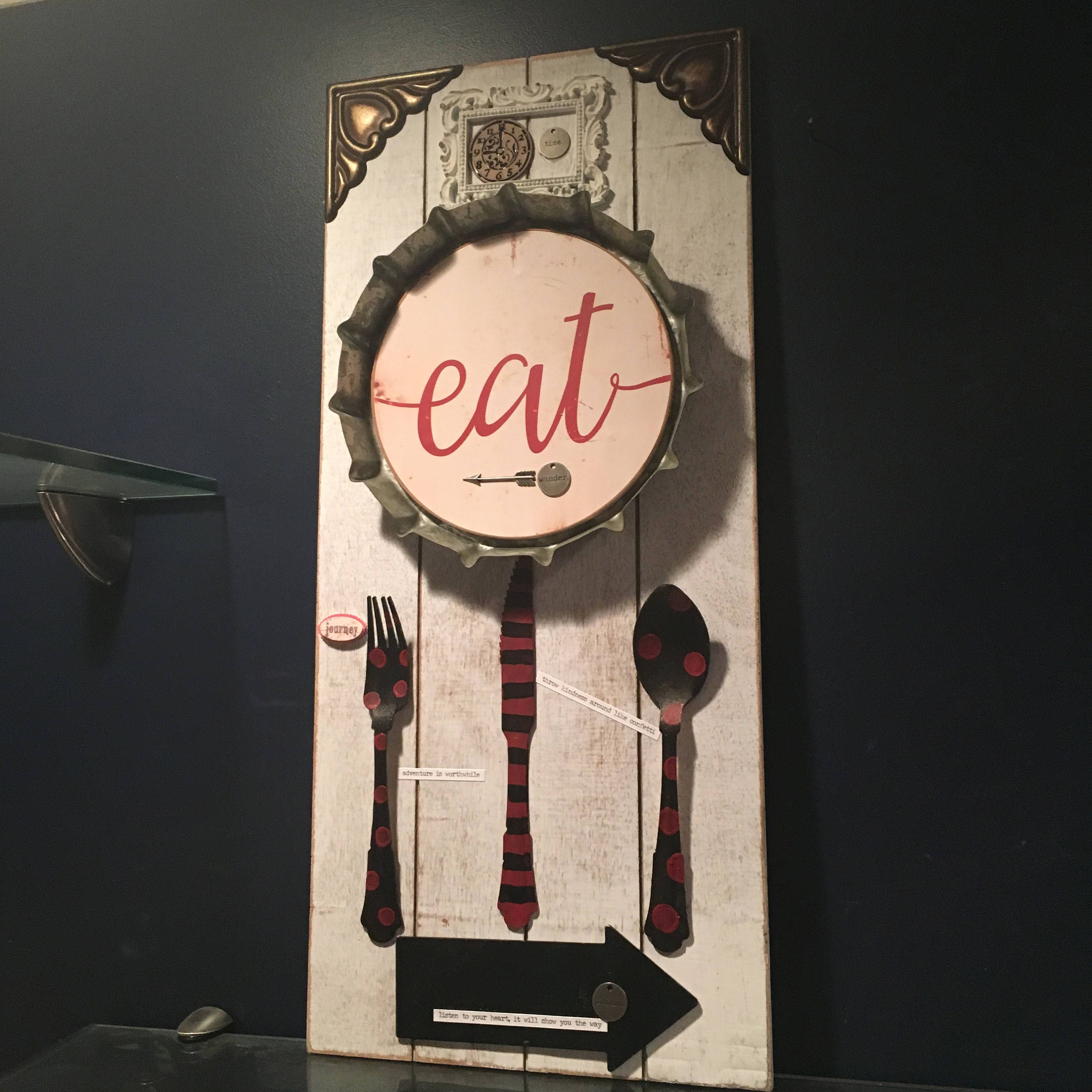 retro EAT sign retro kitchen wall art diner art restaurant sign gift & retro EAT sign retro kitchen wall art diner art restaurant sign ...